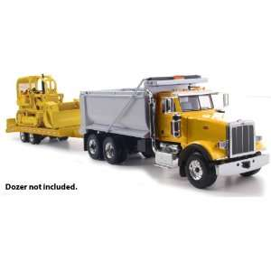 Peterbilt Model 367 Dump Truck With Beavertail Trailer