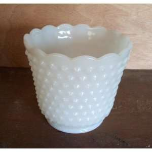 Fire King Hobnail Milk Glass Pot $16.95
