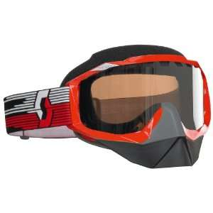 Scott Hustle SnowCross Red Goggles with Rose Lens