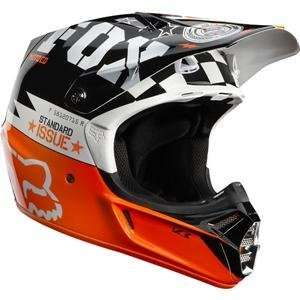 Fox Racing V3 Covert Helmet   X Large/White/Black