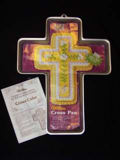 Wilton CROSS Religious Baptism EASTER Church Cake Pan