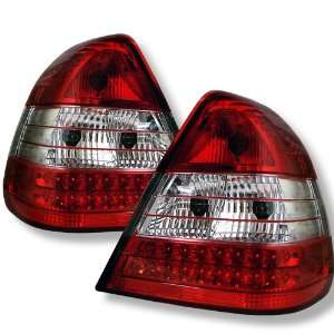 1994 2000 Mercedes Benz Red/Clear SR LED Tail Lights Automotive