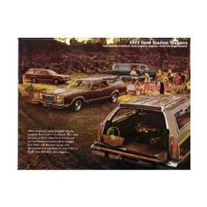 1977 FORD STATION WAGON Sales Brochure Literature Book Automotive