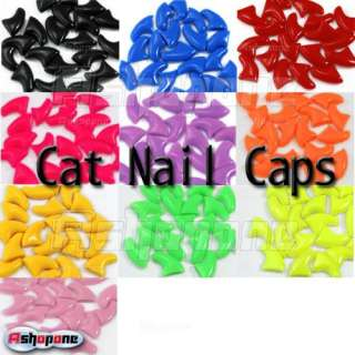 Soft Nail Caps For Cat Claws Control Paws off + Adhesive Glue