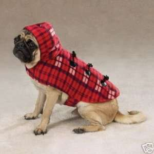Zack&Zoey RED Plaid Fleece Dog Yukon Coat Jacket MED