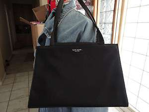 Kate Spade Black Nylon Sam Tote Bag 100% Authentic Pre Owned Very