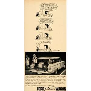 1960 Ad Charlie Brown Ford Falcon Station Wagon Schulz