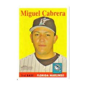 Miguel Cabrera 2007 Topps Heritage Card #144 Sports