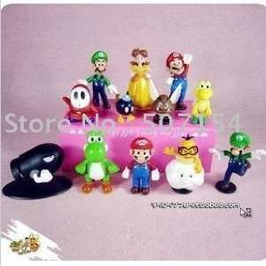 whole /lot of 12pcs super mario figures dolls toys new Toys & Games