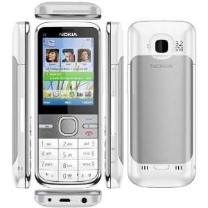Nokia C5 White is mobile phone supporting quadband GSM Cell Phones