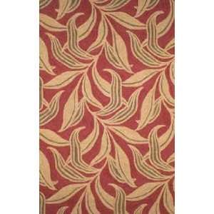 Trans Ocean Ravella Leaf Red 190224 Outdoor 8 x 10 Area