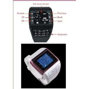 New quadband dual sim card dual standby watch cell phone