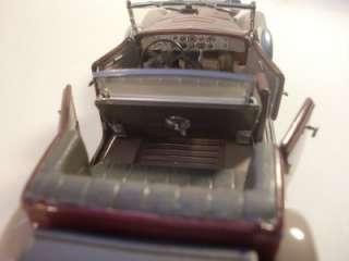 1930 DUESENBERG J DERTHAM TOURSTER DIE CAST CAR FROM FRANKLIN MINT 1