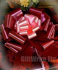 12 BIG LOLLIPOP RED PULL BOWS CHRISTMAS WEDDING GIFT WREATH