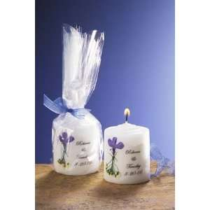 Blue Bouquet Small Candle Favor