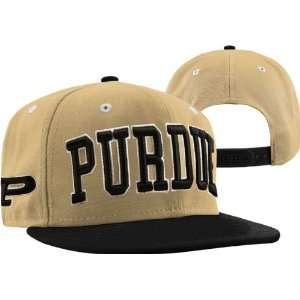 Purdue Boilermakers Gold/Black Super Star Snapback