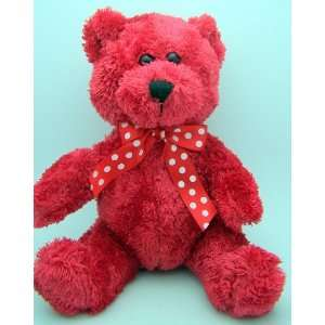 Day Heart Girl Toy Teddy Bear Red with Polka Dot Bow Tie Toys & Games