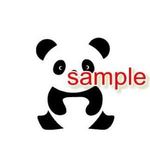 CUTE PANDA WHITE VINYL DECAL STICKER
