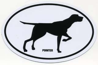 Pointer Oval Car Magnet