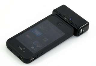 Black 2800mAH iPhone 4 4S Micro USB Charger External Battery Galaxy S