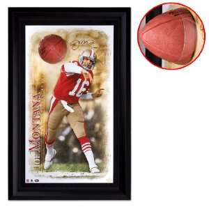 Joe Montana Autographed San Francisco 49ers Breaking