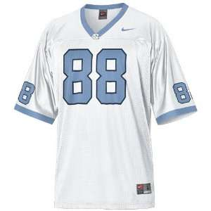 Nike North Carolina Tar Heels (UNC) #88 White Youth Replica Football