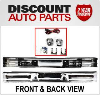 New Rear FEY Bumper Chrome Chevy Pickup S10 S 15 Truck Styleside