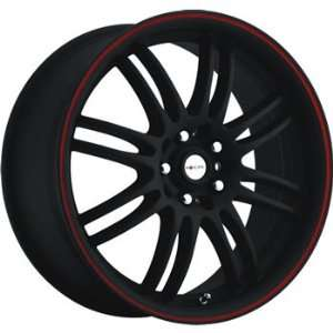 Focal F 16 18x8 Black Red Wheel / Rim 5x112 & 5x120 with a 42mm Offset