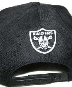 Mitchell & Ness Los Angeles Raiders Retro Snapback Cap Script Black on