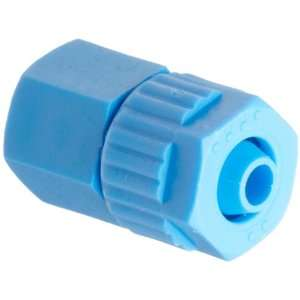 Tube Fitting, Adapter, Blue, 6 mm Tube OD x 1/8 BSPT Female (Pack of