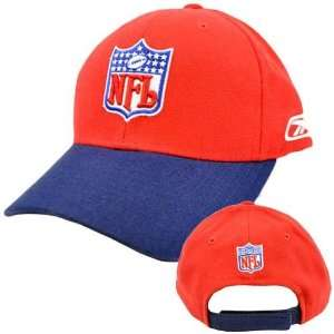NFL National Football League Red Navy Blue Constructed Velcro Hat Cap