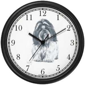 Shih Tzu Dog (MS) Wall Clock by WatchBuddy Timepieces
