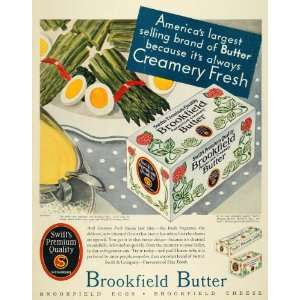 1931 Ad Brookfield Butter Swift Ham Creamery Fresh Eggs