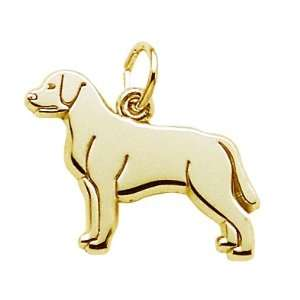 Rembrandt Charms Labrador Retriever Dog Charm, 14K Yellow