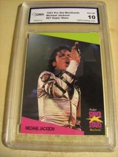 MICHAEL JACKSON 1991 PROSET SUPER STARS # 67 GRADED 10