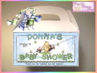 the Pooh Baby Shower Favor Boxes Nugget Wrappers or Mento Mint Favors