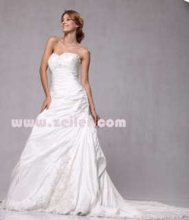 W72 Embroidery Sweetheart Neckline Bridal Wedding Formal Ball Gown