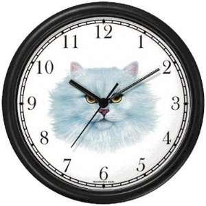 White Persian Cat   JP   Wall Clock by WatchBuddy Timepieces (White