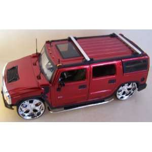24 Scale Diecast Big Time Kustoms Hummer H2 in Color Red Toys & Games
