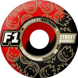 Spitfire F1sb Swirl 54mm Black Red Skate Wheels Sports