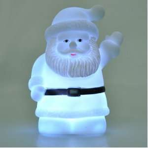 Auto Color Changing LED Mood Lamp Cute Santa Claus Shape Night Light