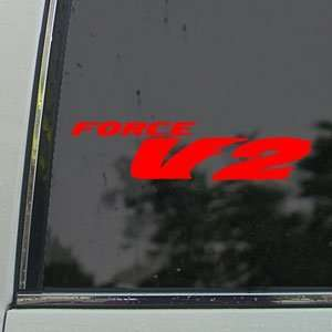 Honda Red Decal Force V2 Car Truck Bumper Window Red