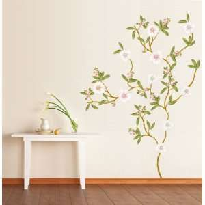 House Blossoming Flowers removable Vinyl Mural Art Wall Sticker Decal