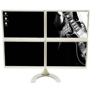 Quad Freestanding LCD Monitor Stand Holds up to 22 Inch Widescreen
