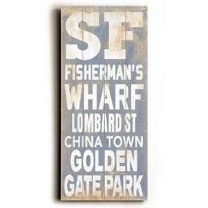 San Francisco Transit Sign Wall Plaque