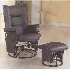 Swivel Glider/Recliner Chair with Matching Ottoman