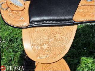 Hilason Treeless Western Barrel Racing Trail Saddle 16