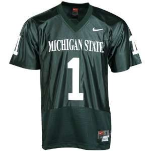 State Spartans #1 Green Twilled Football Jersey