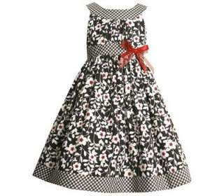 Bonnie Jean Girl Black White Red Fall Holiday Dress 6