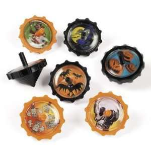 Plastic Halloween Spin Tops   Novelty Toys & Spin Tops